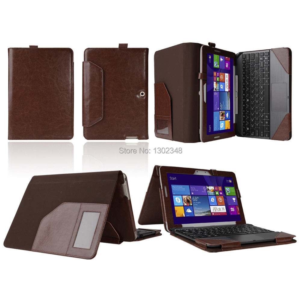 New Detachable Triple Crazy Horse Folio Stand Leather Case With Keyboard Cover For Asus transformer pad tf303 tf303cl 10.1