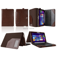 New Detachable Triple Crazy Horse Folio Stand Leather Case With Keyboard Cover For Asus Transformer Pad
