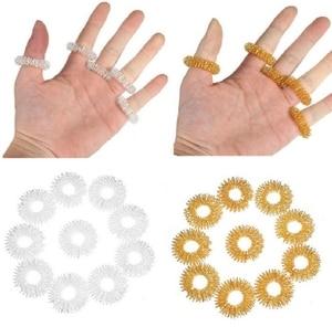 Image 2 - Finger Wrist Massage Ring Acupuncture Ring Health Care Body Massager Relax Acupressure Hand Massage Bracelet