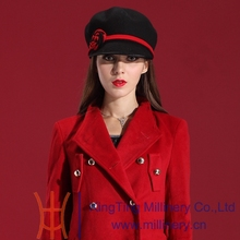 Free Shipping Fashion and Elegant Women Winter Hats classical Dress Wool Felt Hat Natural 100% Wool with Little Cute Flower