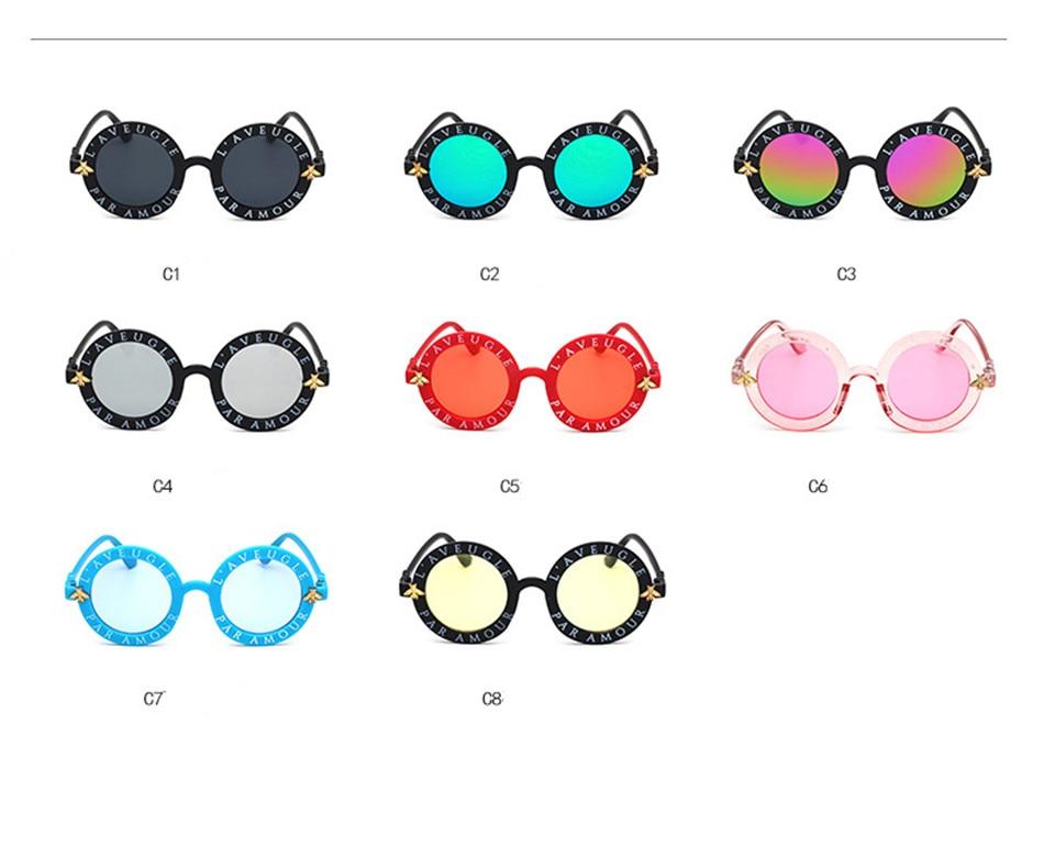 Steampunk Bee Kids Sunglasses Boys Girls Luxury Vintage Children Sunglasses Round Sun Glasses Oculos Feminino Accessories 3