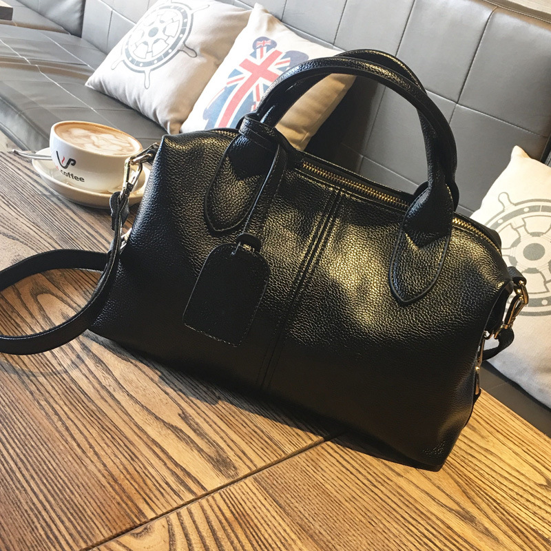 High Quality Women's Genuine Leather Handbags Big Size Boston Luxury Handbags Women Bags Women Messenger Shoulder Bag Bolsas