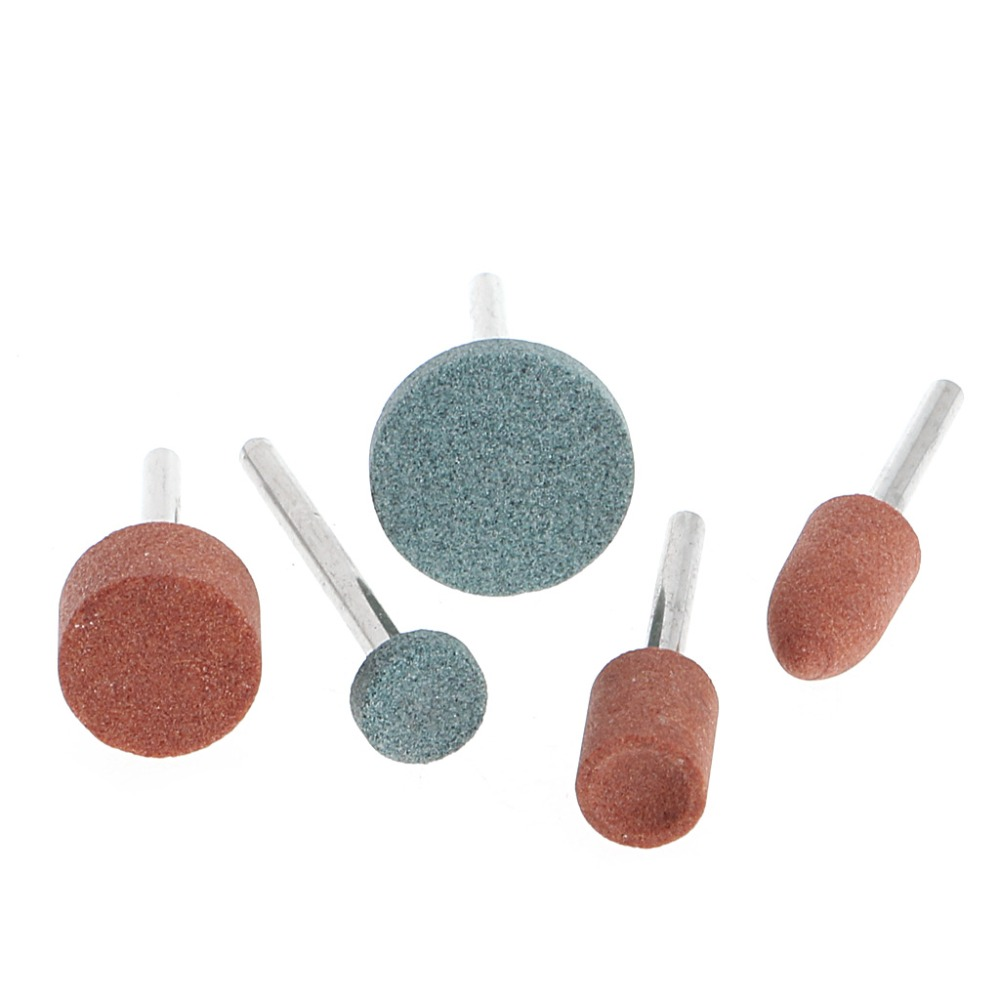 Dremel New 5Pcs 3mm Shank Wheel Head Grinding Polishing Electric Grinder Tool High Quality 12pc multi shaped grinding electric grinder wool polished head bit with 3mm handle