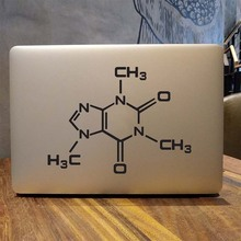 Caffeine Molecular Laptop Decal for Apple Macbook Sticker Pro Air Retina 11 12 13 15 inch Mac Vinyl 15.6 HP Acer Notebook Skin