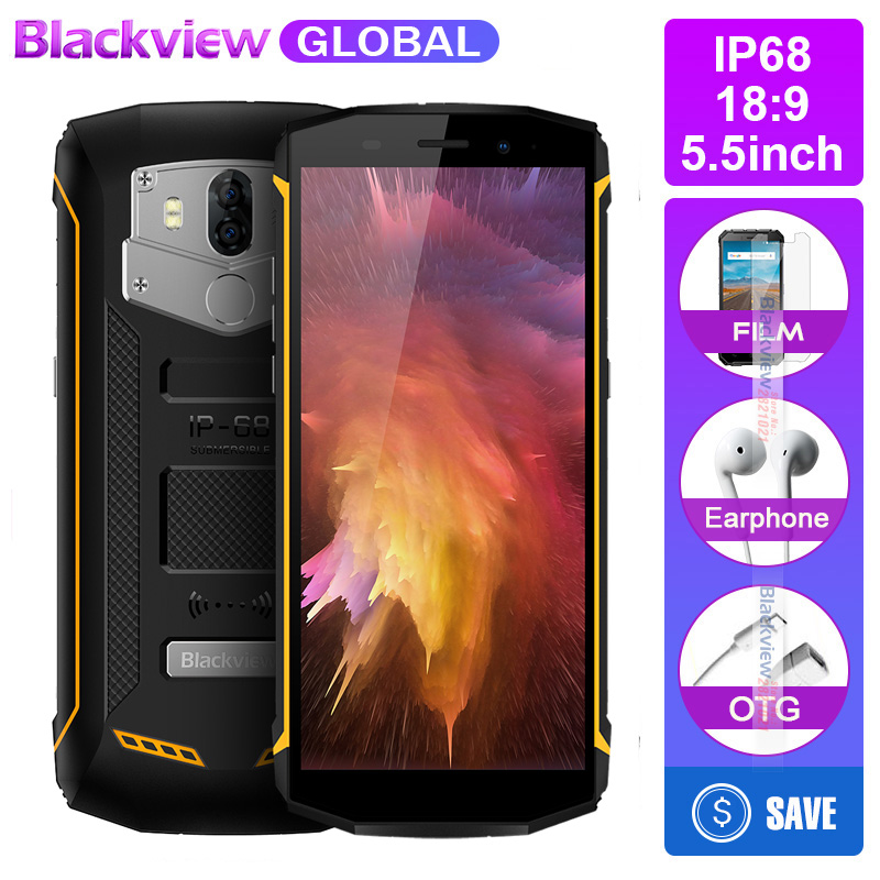 Blackview Bv5800 IP68 waterproot 5580 mAh big battery 4G 18 9 Smartphone 2GB RAM 16GB ROM