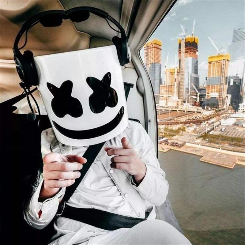 Máscara de malvavisco DJ cara completa Cosplay disfraz Carnaval Halloween Prop máscaras de látex accesorios tocado