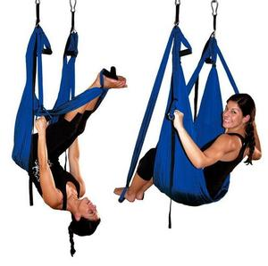Image 3 - High Strength Decompression Hammock Inversion Trapeze Anti Gravity Aerial Traction Yoga Gym Swing Hanging 10 Colors