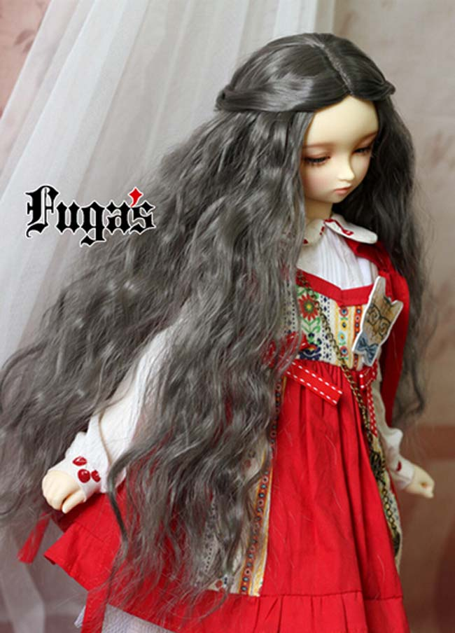 2018 New Arrival Bjd SD Doll Wig 1/3 1/4 High Temperature Wire Long Grey Fashion Wavy For BJD Super Dollfile Hair Wig