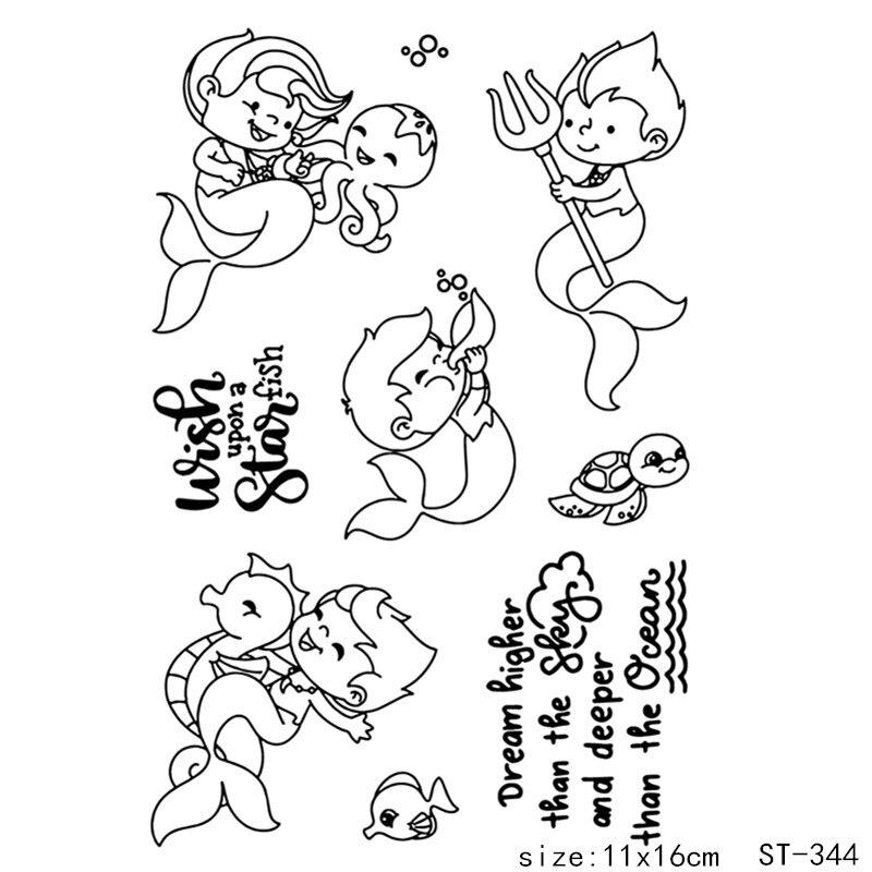 AZSG Ocean Baby Clear Stamp Scrapbook Rubber Stamp Seal
