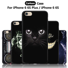 JURCHEN Phone Case For iPhone 6 S Plus Cover Cute Cartoon iPhone6Plus Silicone Soft Case For iPone 6S Plus ihone 6SPlus Cover 66(China)