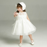 Fashion Formal Newborn Wedding Dress Baby Girl Bow Pattern For Toddler 1 Years Birthday Party Baptism Dress for Girl Clothes