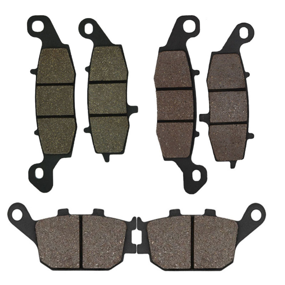 Cyleto Motorcycle Front and Rear Brake Pads for Suzuki SV400 2003-2005 SV650 2002-2013 DL650 V-Strom 2004-2013 DL1000 2002-2010