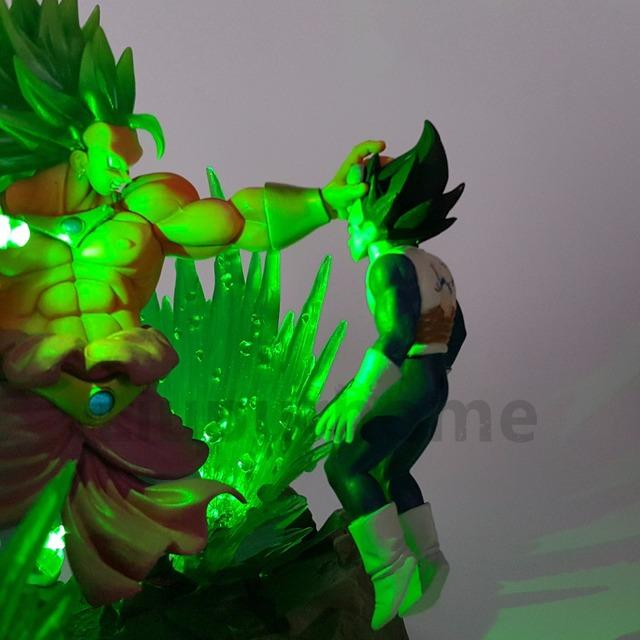 Dragon Ball Z Broly VS Vegeta Fighting LED Night Lights Figures
