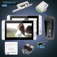 HOMSECUR 7 Hands free видео домофонов Телефонный звонок Системы с ЖК дисплей монитор с видео Запись, принимать фото и экранного меню