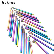 HYTOOS 1Pc Rainbow Diamond Nail Drill Bits 3/32