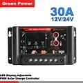 SL02B-30A 12V/24V solar controller charge lithium battery/GEL/AGM battery,12V/24V auto regular for solar cell panel charger