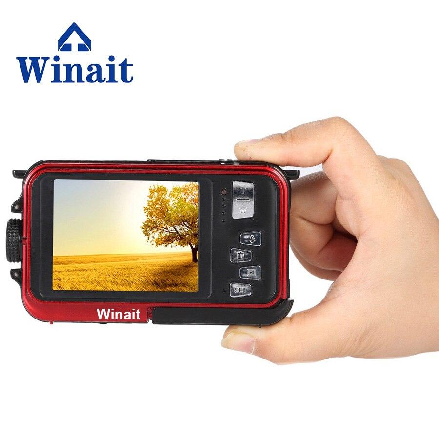 Winait 24 mp max digital camera waterproof mini cameras 1080P full hd 16x digital zoom battery photo shooting video recording цена