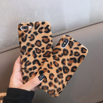 Leopard Wool iPhone Case 2019 - Luxury Warm Fuzzy Back Cover Soft Cases