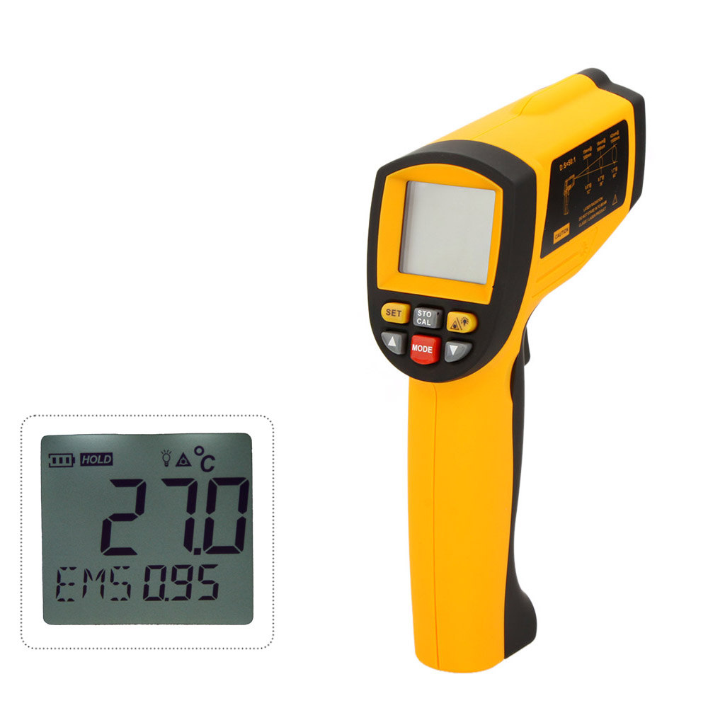 GM1651 Benetech USB Digital non-contact IR infrared thermometer 50:1 Laser Sensor gun Temperature Meter -30~1650C 2017 bside btm21c infrared thermometer color digital non contact ir laser thermometer k type 30 500 led