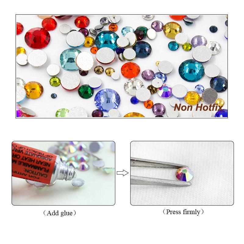 Mix Mix Mix Color 10g / pack Rhinestones Nail Rhinestones Crystal - Seni kuku - Foto 3