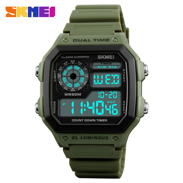 SKMEI Fashion Sports Watches Men Waterproof Countdown Digital Watches Outdoor Mi