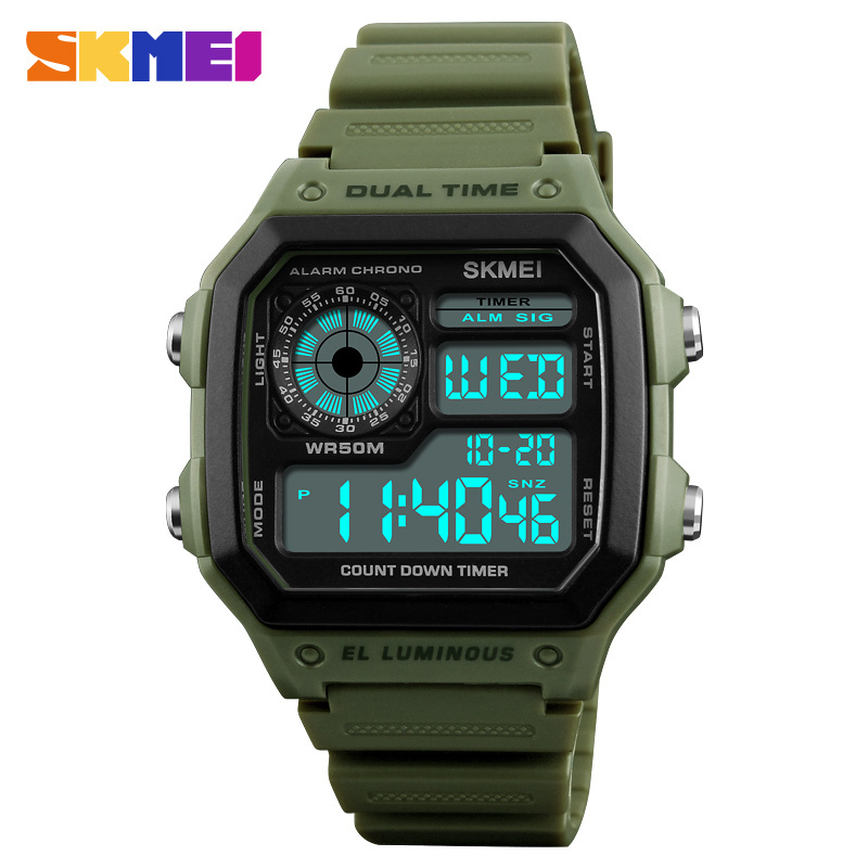 SKMEI Fashion Sports Watches Men Waterproof Countdown Digital Watches Outdoor Military Wristwatches Clock Men Relogio Masculino