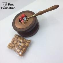 Vintage pote de derretimento colher de bronze vedação cera 50 selo retro vintage vara de cera sellado sax palillo sello de la cera de sellos