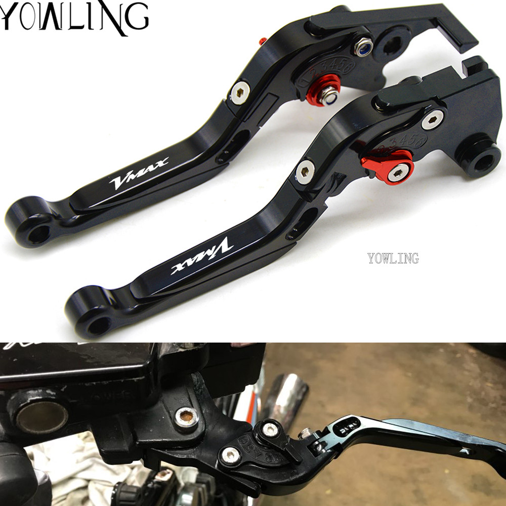 Motorcycle Adjustable Foldable Extendable Brake Clutch Levers For Yamaha V-MAX VMAX 1700 2009-2016 2010 2011 2012 2013 2014 2015