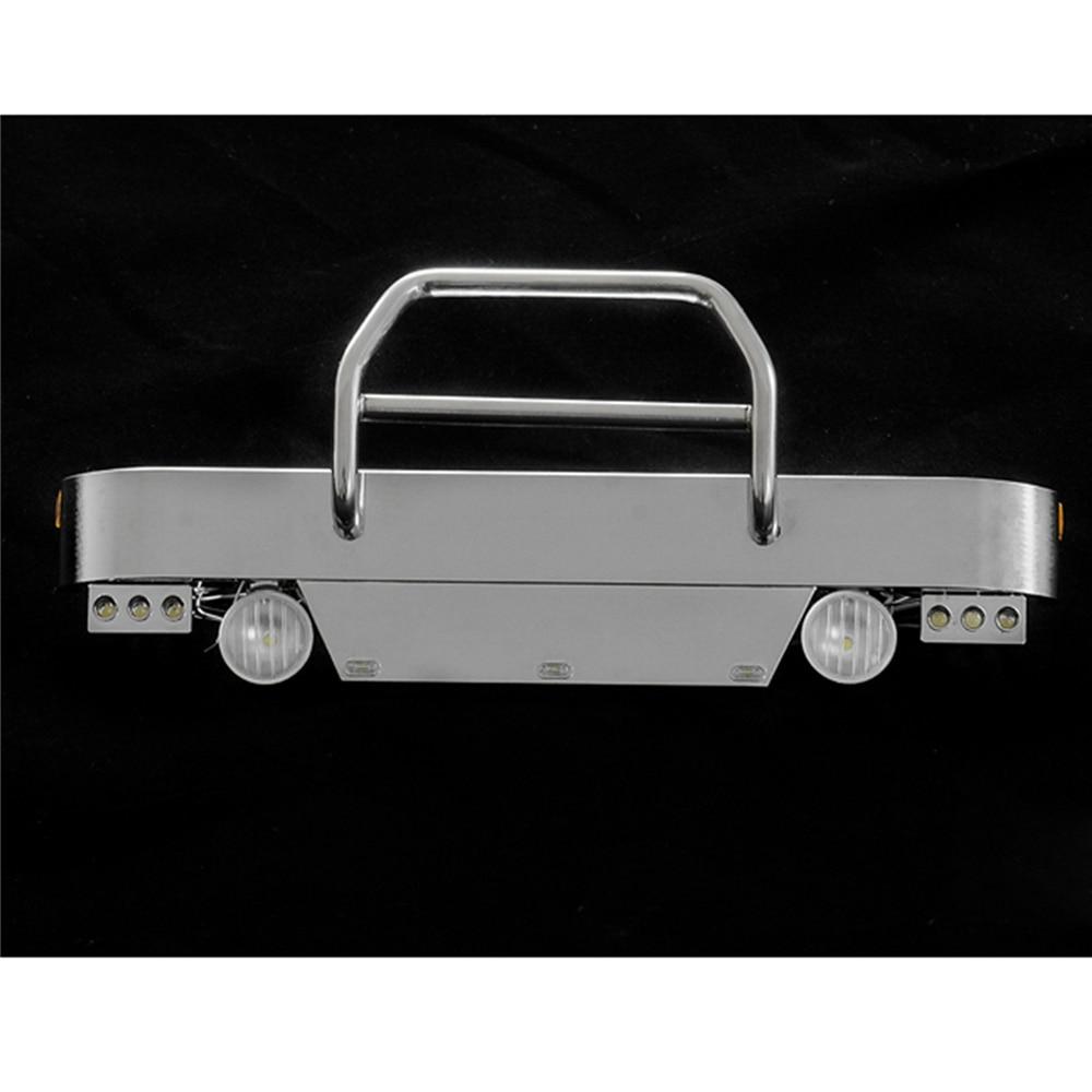 Metal Front Bumper with Light for TAMIYA King Hauler Trucks 1 14 DIY Model Car Parts