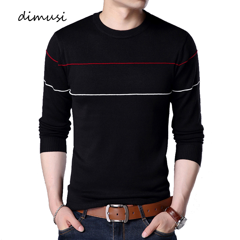 DIMUSI Autumn Mens Pullover Sweaters Casual Mens Turtleneck Sweater Male Fashion Slim Fit Knitted Pullovers Brand Clothing 4XL