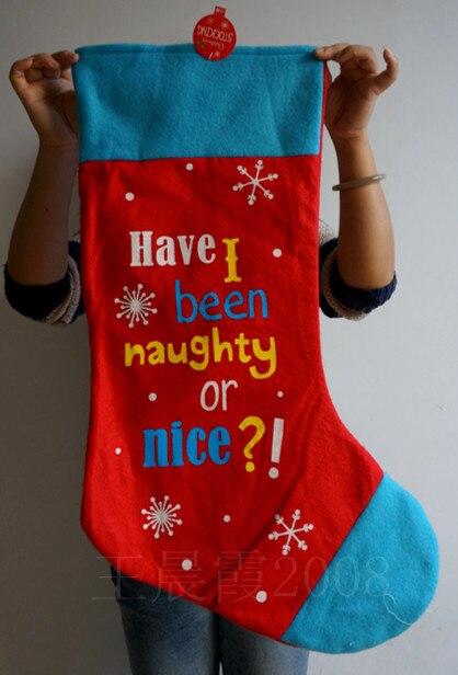 68cm 268 big felt red blue christmas stockings santa claus children candy - Big Christmas Stockings