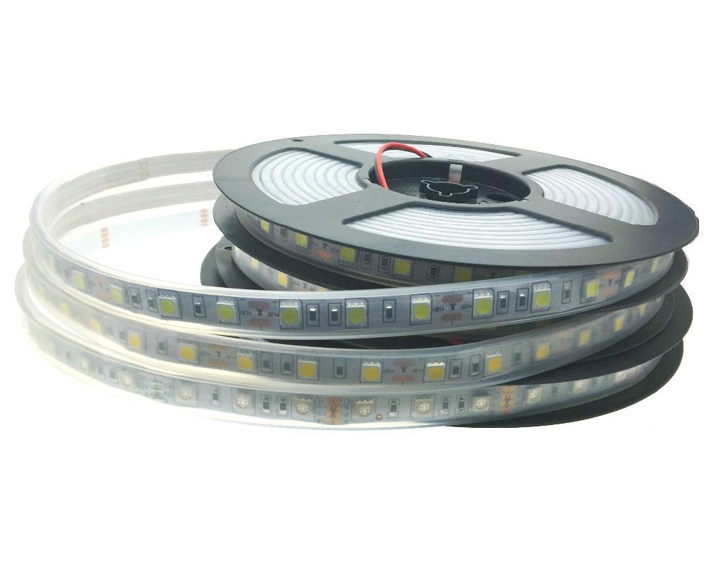 IP67 impermeabil 5050 LED Strip DC12V 60 LED / M de înaltă calitate - Iluminat cu LED