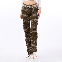 Military Camouflage women Cargo Pants Women 2019 Fashion Loo