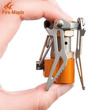 лучшая цена New Arrlval Fire Maple FMS-300T Ultra Light Titanium Stove folding camping Mini-Stove one-piece folding gas stove 45g