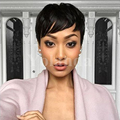 Short brazilian cut hair bob wigs lace front wig with baby hair glueless full lace human wigs with bangs for black women