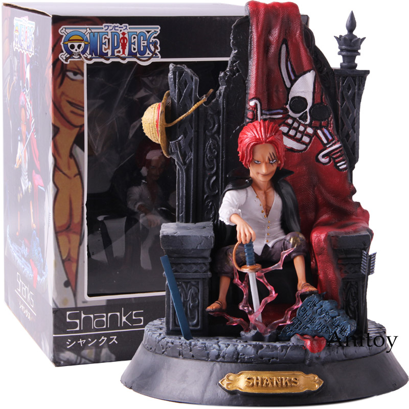 Anime One Piece Shanks Red Hair Pirates PVC Action Figure Collectible Model Toy