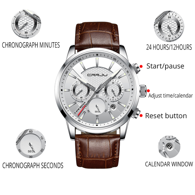 CRRJU Analog Quartz Wristwatches 3