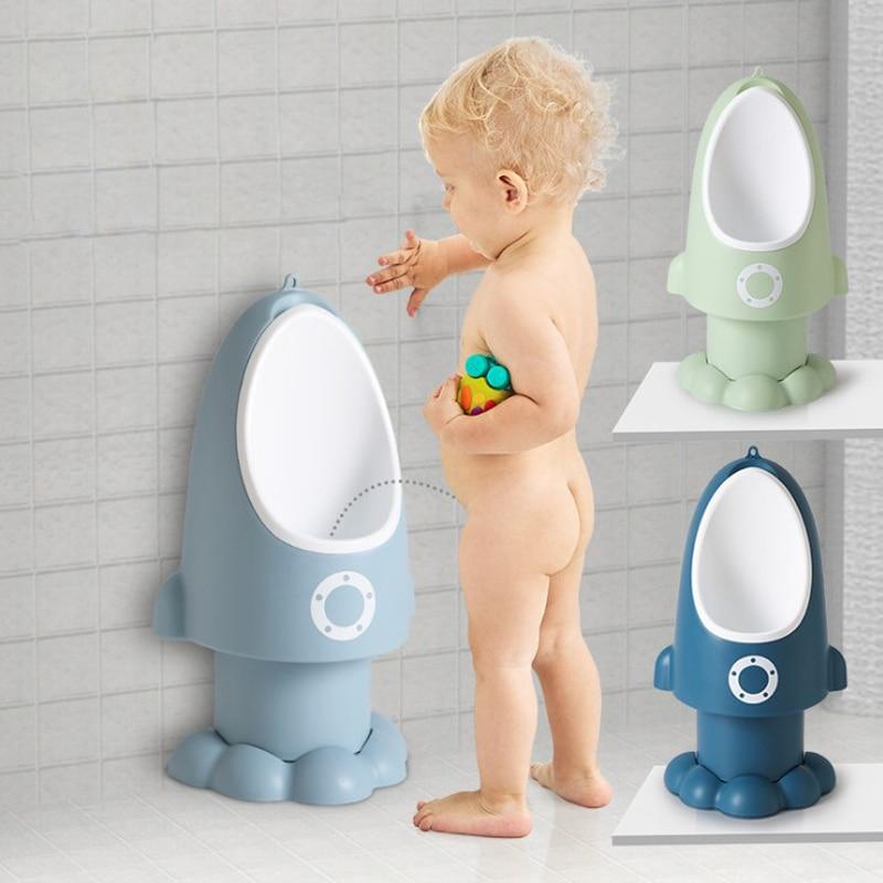 Baby Urinal Boys Potty Toilet Training Rocket Animal Shape Kids Children Stand Vertical Urinal Infant Penico Pee