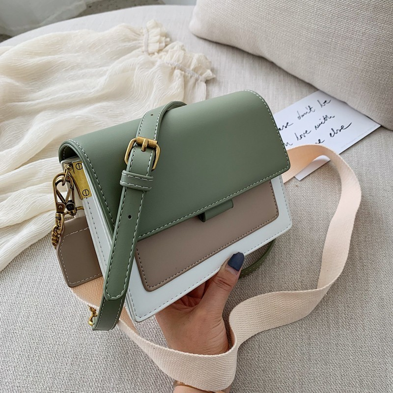 Crossbody-Bags Messenger-Bag Handbag Fashion Shoulder Travel Contrast-Color Women Lady