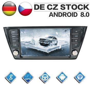 2 Din Android 8.0 Car CD DVD Player 8Core GPS Navigation for VW Skoda Fabia 2015-2017 Stereo 1080P HD Screen Autoradio Headunit image