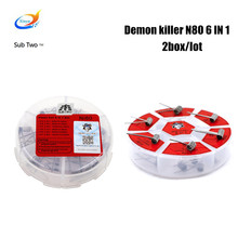 2box/lot Demon killer N80 6 in 1 electronic cigarette accessory coils Flame heating wire for RDA RDTA tank Atomizer vaporizer
