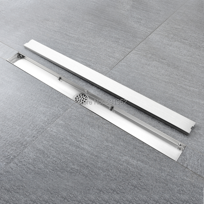60CM Anti odor Floor Drain SUS304 Stainless Steel Inserted Shower Floor Drain Large Flow Gate Drain Deodorization Free Shipping in Drains from Home Improvement