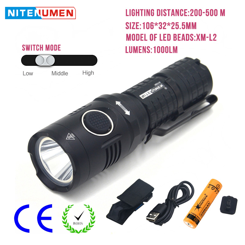 Portable USB LED Flashlight Mini Rechargeable LED Torch Pocket Tactical Flash Light For Bike Camping Hunting With 18650 Battery wuben led flashlight tactical torch 18650 battery usb rechargeable lights waterproof led lamp cree portable camping lantern l50
