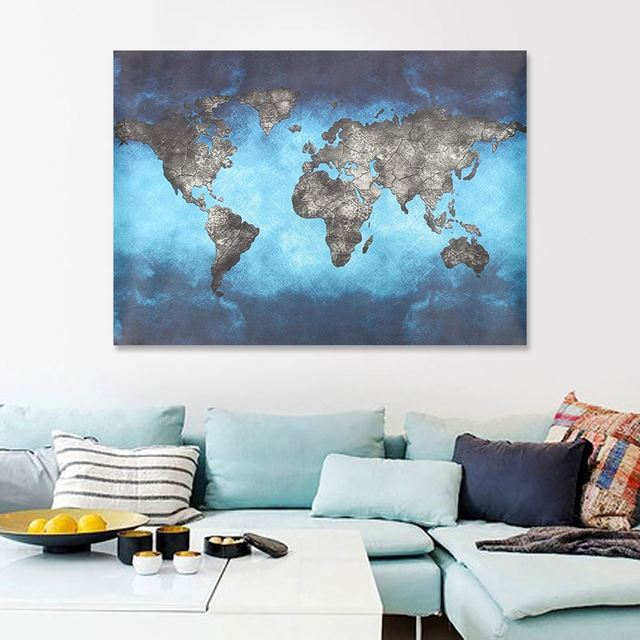 80x66cm 50x35cm world map canvas painting print tapestry picture 80x66cm 50x35cm world map canvas painting print tapestry picture living room home wall art decoration tapisserie gumiabroncs Images