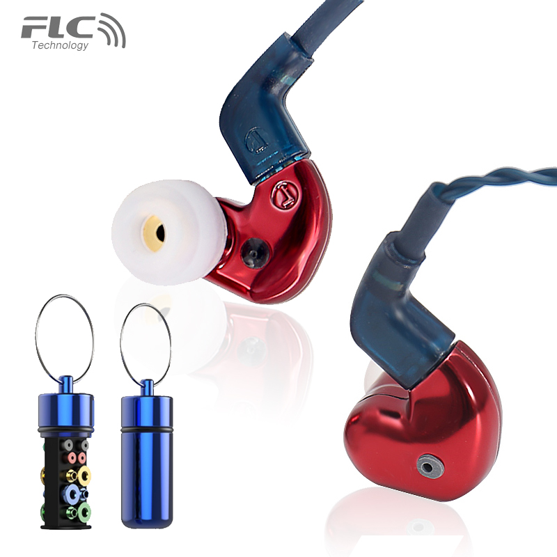 FORREST FLC8S IEM HiFi Triple-Driver Hybrid 2BA+Dynamic In-Ear Earphones ukingmei uk 2050 wireless in ear monitor system sr 2050 iem personal in ear stage monitoring 2 transmitter 2 receivers