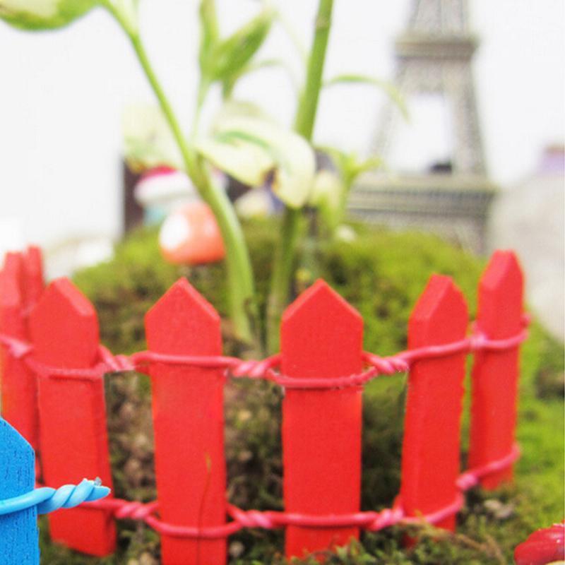 Garten Gebäude Garten Liefert Bunte Nette Mini Diy Zaun Guideboard Gartenarbeit Requisiten Zaun Handwerk Für Moss Micro Landschaft Dekoration