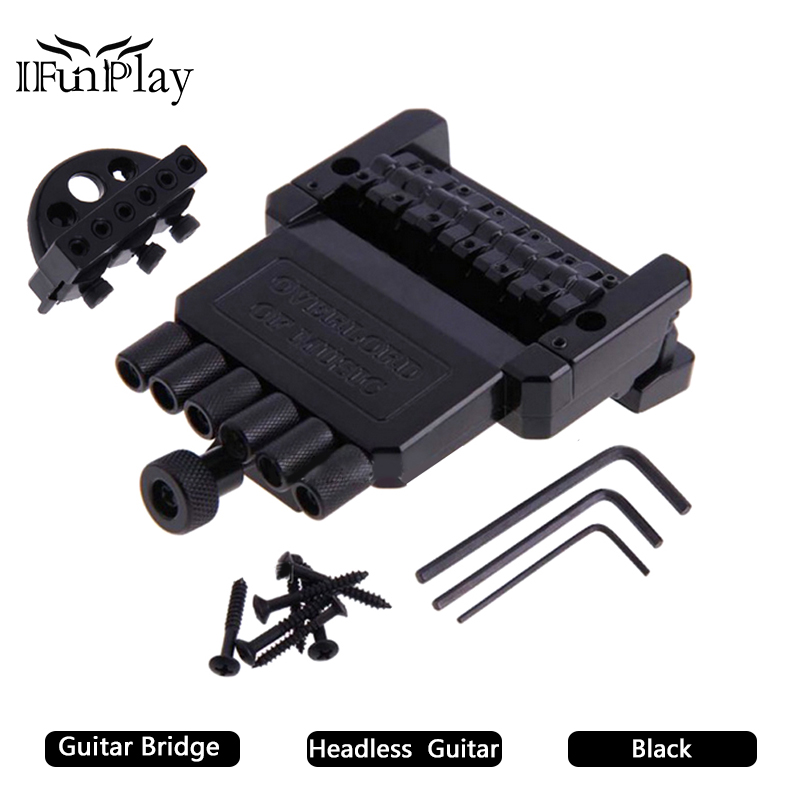 buy 6 strings headless guitar tailpiece tremolo bridge w arm and nut guitar. Black Bedroom Furniture Sets. Home Design Ideas