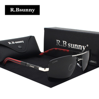 R.Bsunny Brand Polarized Men's Sunglasses Square Vintage Male women Sun glasses Driving Eyewear Accessories oculos For Men R7613