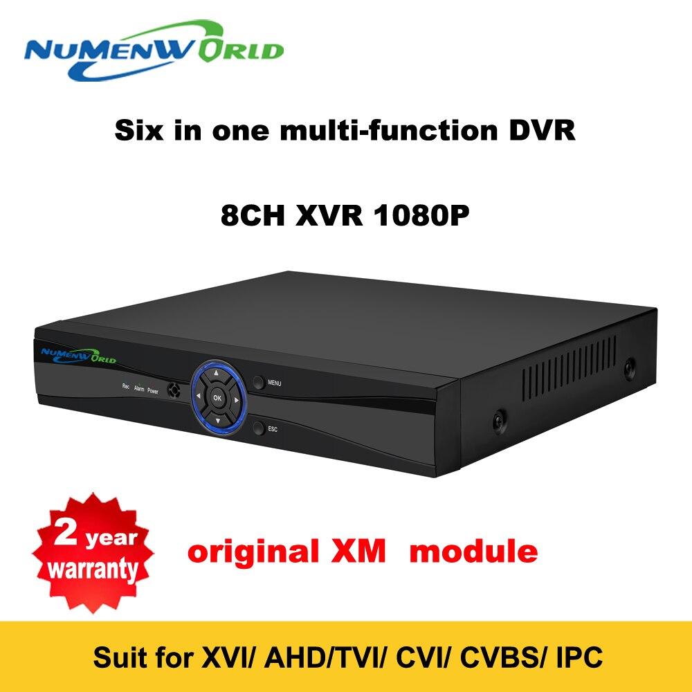 Супер новый 8CH XVI/AHD DVR HD 1080 P видео Регистраторы H.264 + CCTV Камера Onvif сети 8-канальный IP NVR Multilanguage с сигнализации
