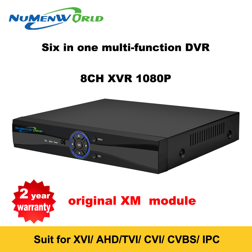 Фотография Super New 8CH XVI/AHD DVR HD 1080P Video Recorder H.264+ CCTV Camera Onvif Network 8 Channel IP NVR Multilanguage With Alarm